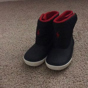Ralph Lauren Red And Blue Boots